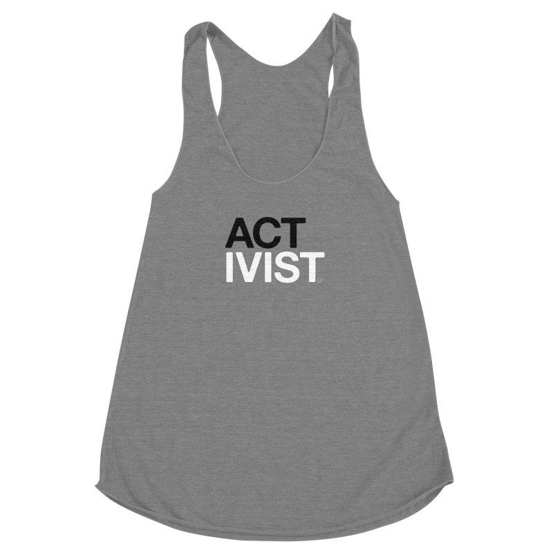 Original Activist T-shirt Women's Racerback Triblend Tank by HappyBombs's Artist Shop