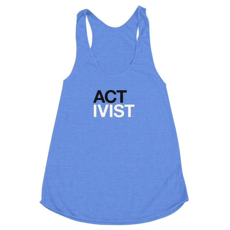 Water Activist T-shirt Women's Racerback Triblend Tank by HappyBombs's Artist Shop