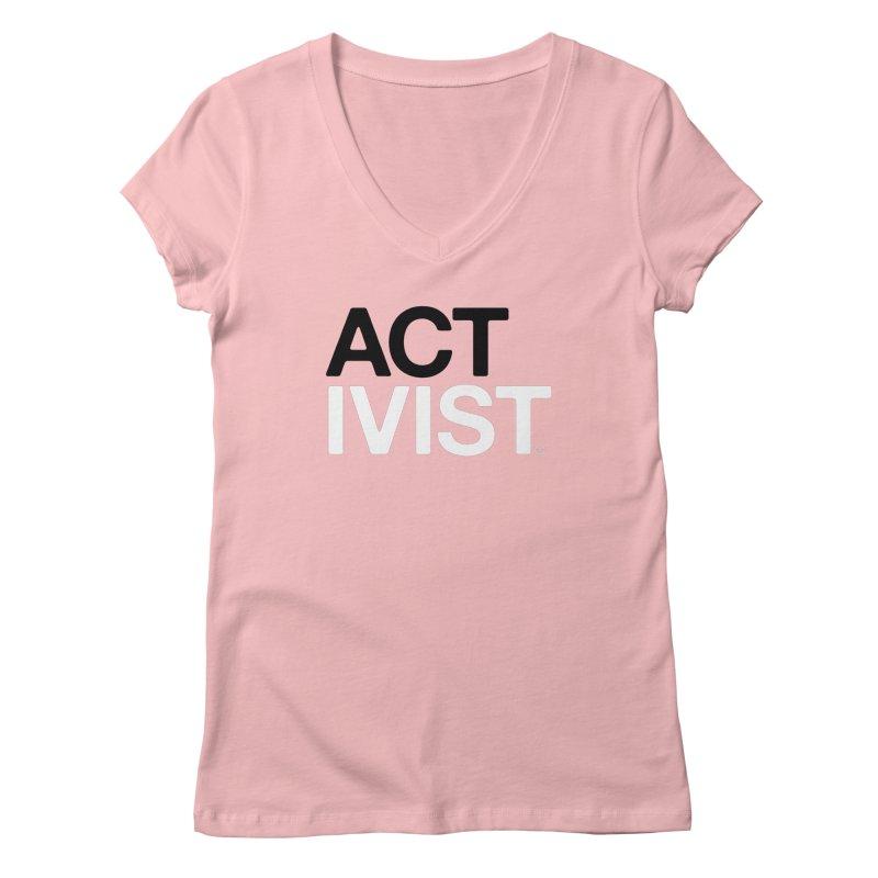 Breast Cancer Activist T-shirt Women's V-Neck by HappyBombs's Artist Shop
