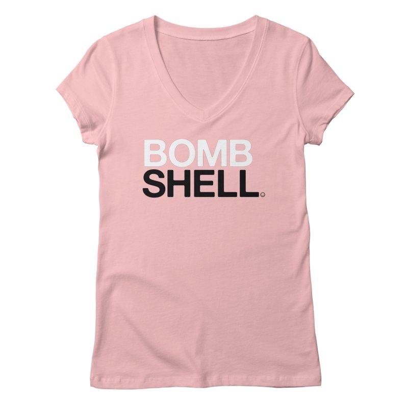 Bombshell T-shirt Women's V-Neck by HappyBombs's Artist Shop