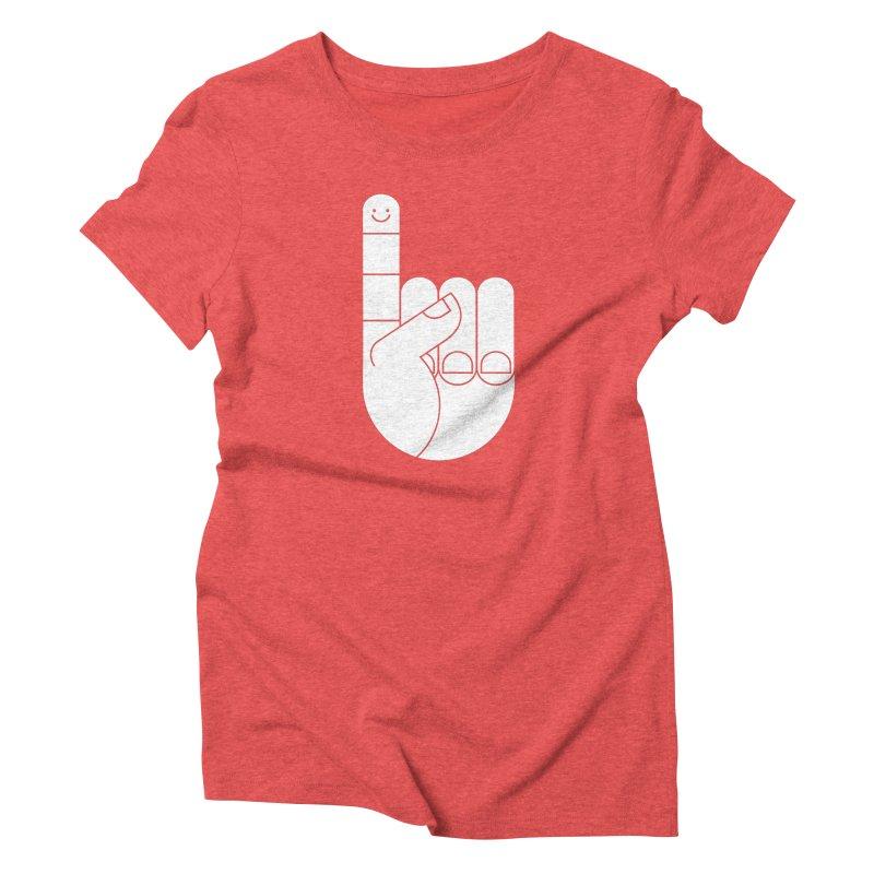 Happy Finger T-shirt Women's Triblend T-shirt by HappyBombs's Artist Shop