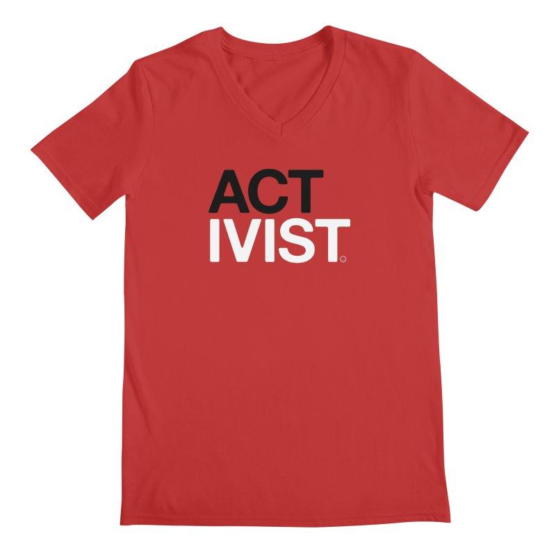 Diabetes Activist T-shirt Men's V-Neck by HappyBombs's Artist Shop