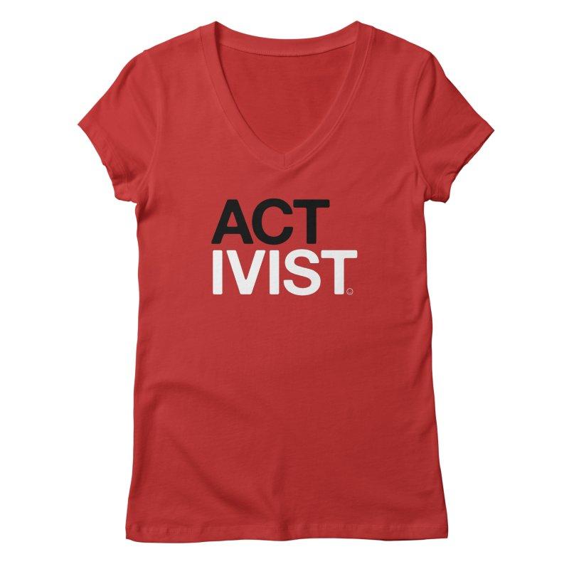 Diabetes Activist T-shirt Women's V-Neck by HappyBombs's Artist Shop