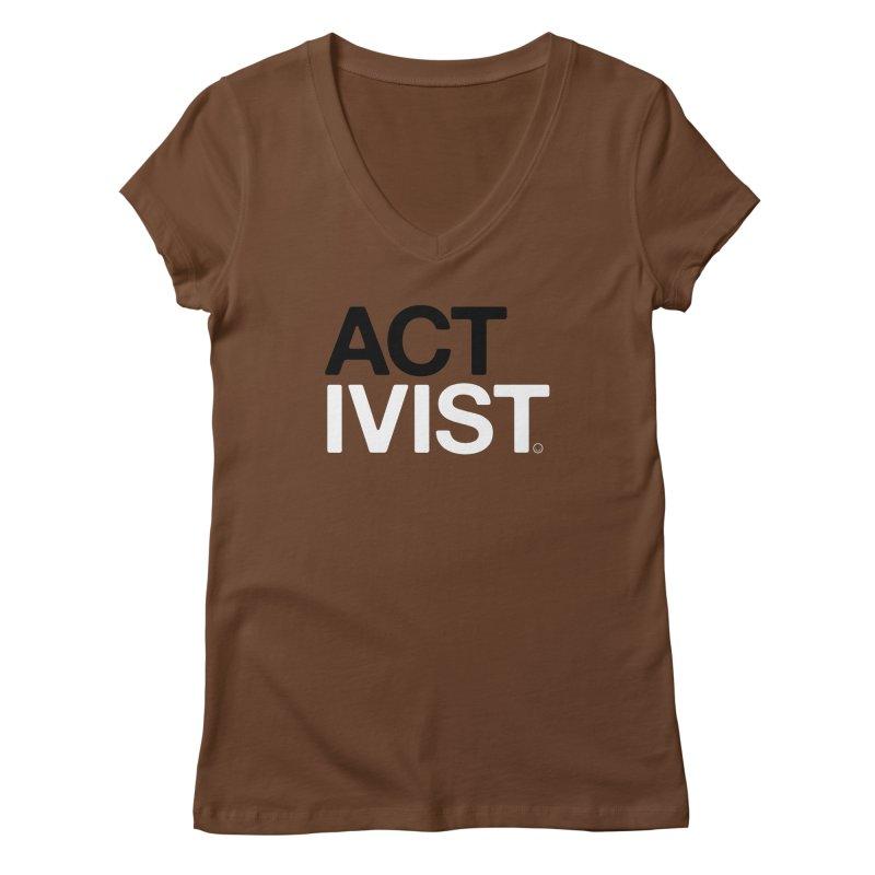 Environment Activist T-shirt Women's V-Neck by HappyBombs's Artist Shop
