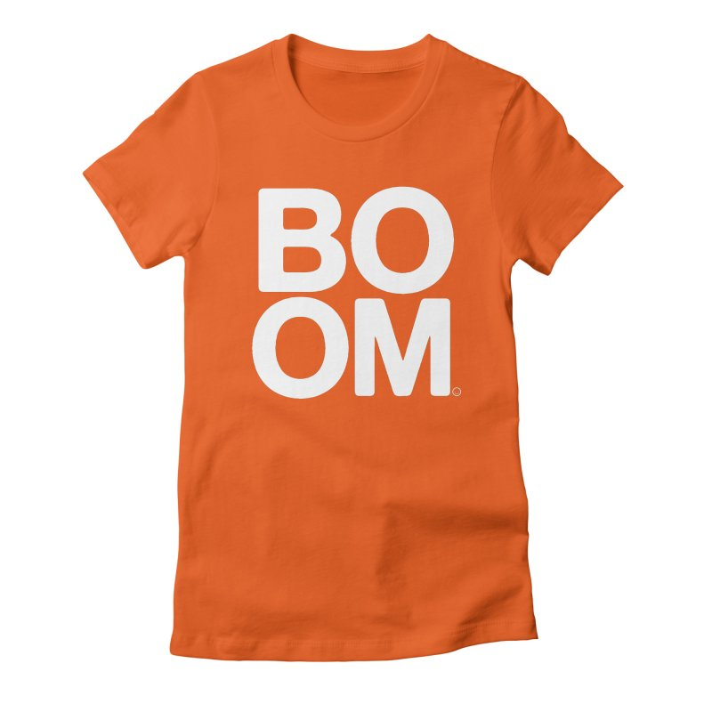 Education BOOM T-shirt Women's Fitted T-Shirt by HappyBombs's Artist Shop
