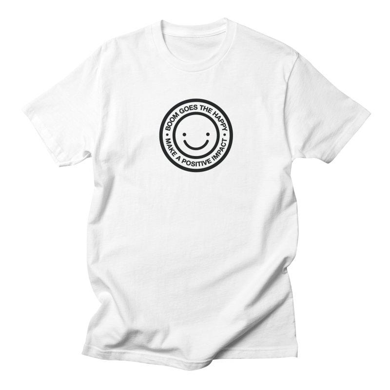 Happy Badge T-shirt Men's T-shirt by HappyBombs's Artist Shop