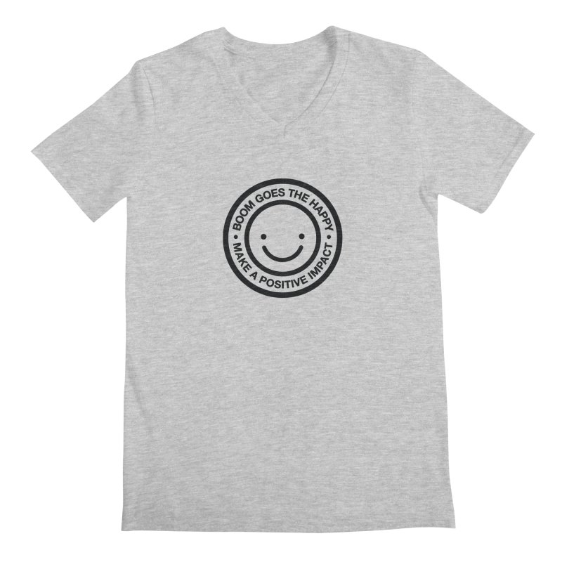 Happy Badge T-shirt Men's V-Neck by HappyBombs's Artist Shop