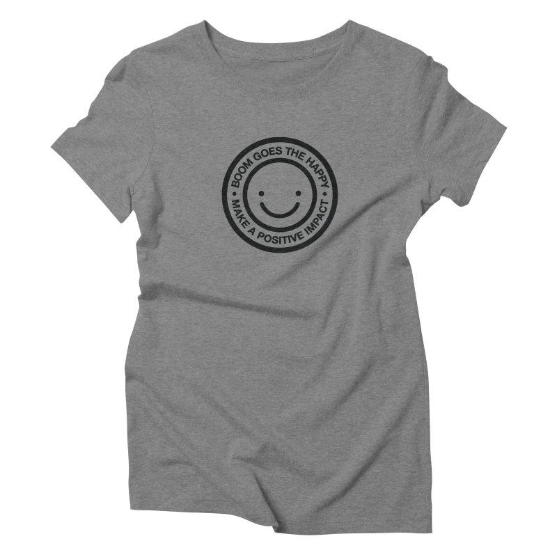 Happy Badge T-shirt Women's Triblend T-shirt by HappyBombs's Artist Shop