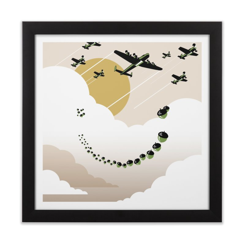Acorn Drop Print Home Framed Fine Art Print by HappyBombs's Artist Shop