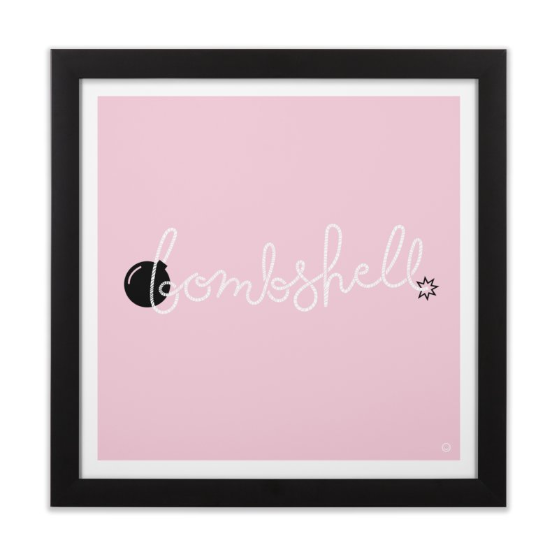 Bombshell Print Home Framed Fine Art Print by HappyBombs's Artist Shop