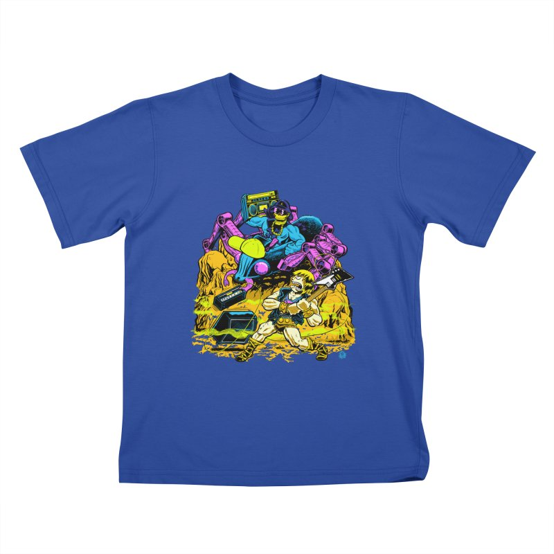 Masters of the Old School Kids T-Shirt by Happy Family
