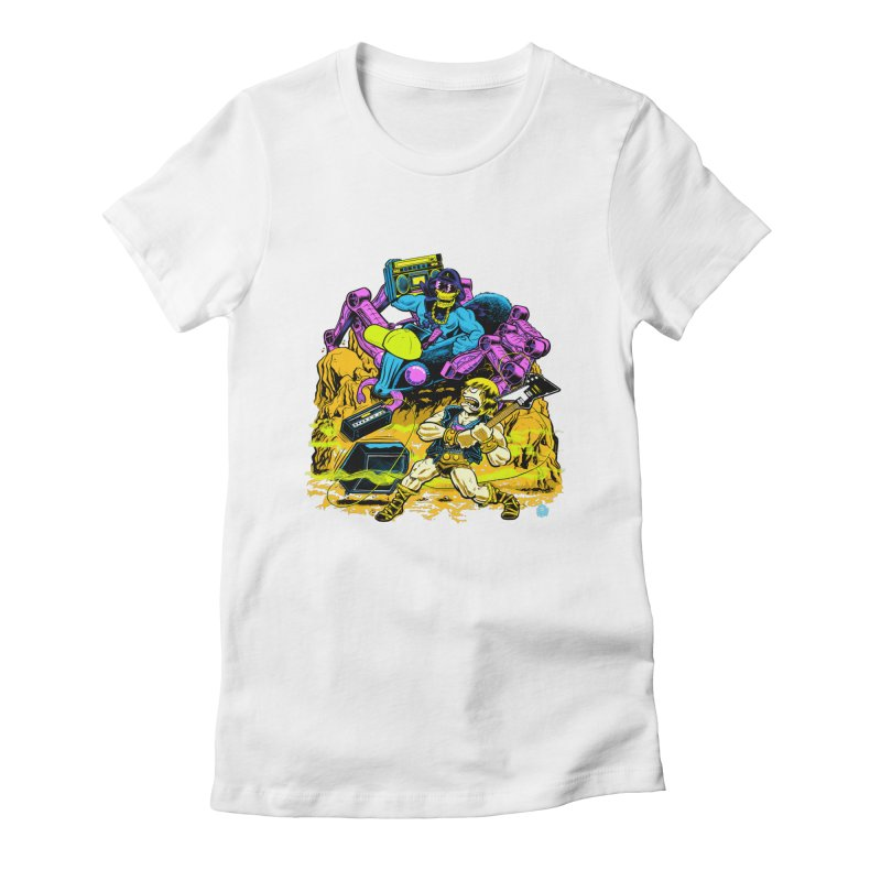 Masters of the Old School Women's Fitted T-Shirt by Happy Family