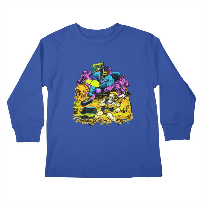 Masters of the Old School Kids Longsleeve T-Shirt by Happy Family