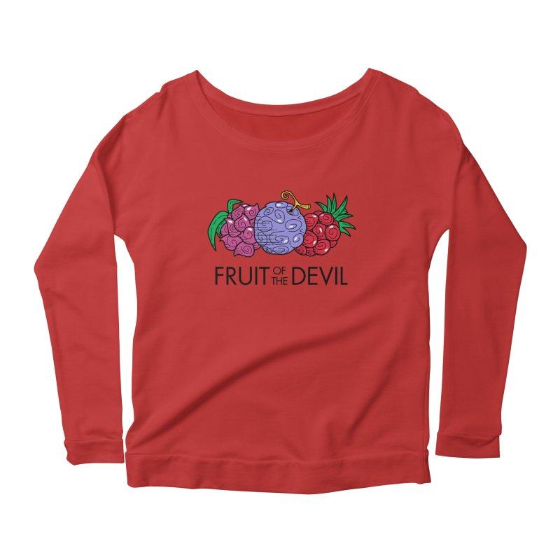 Fruit of the Devil Women's Longsleeve Scoopneck  by haragos's Artist Shop