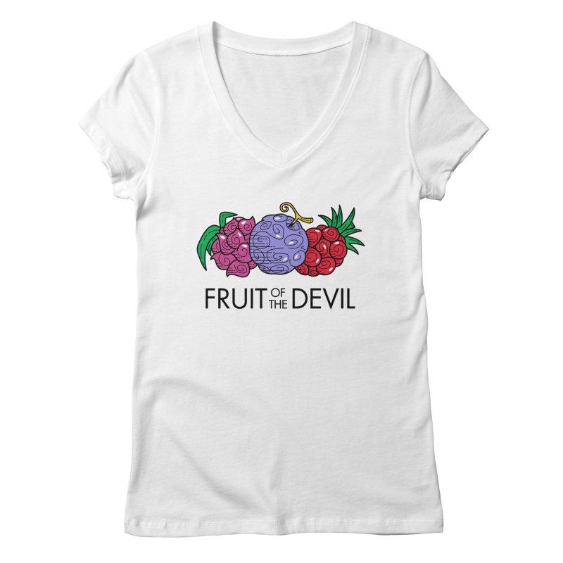 Fruit of the Devil Women's V-Neck by haragos's Artist Shop