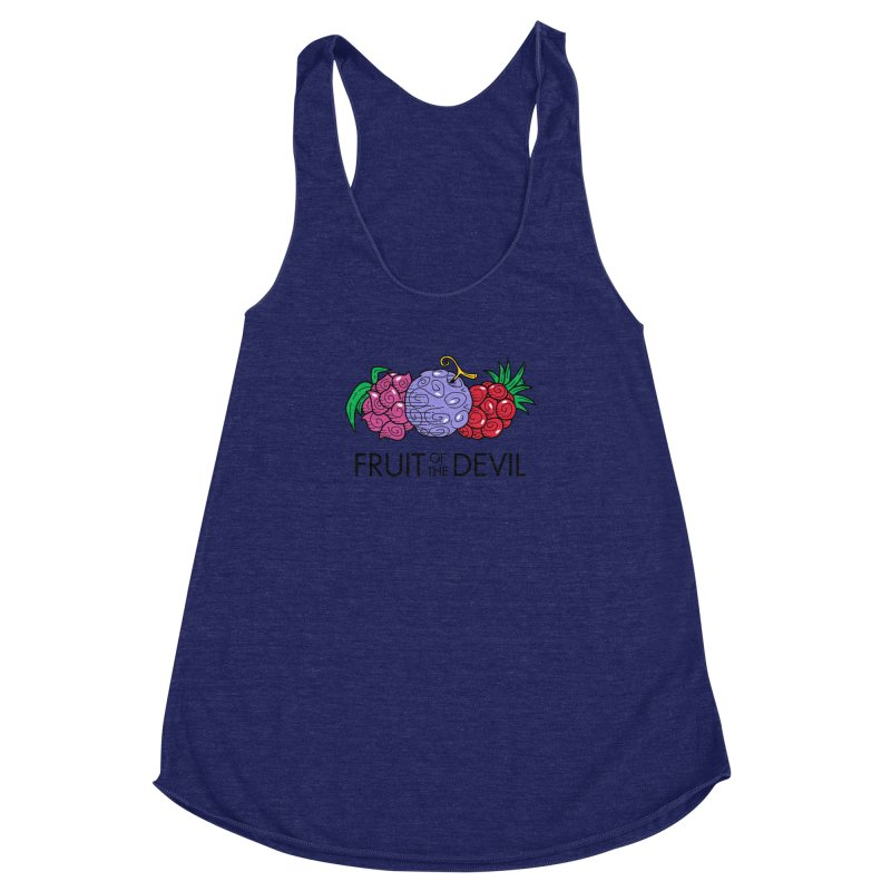 Fruit of the Devil Women's Racerback Triblend Tank by haragos's Artist Shop