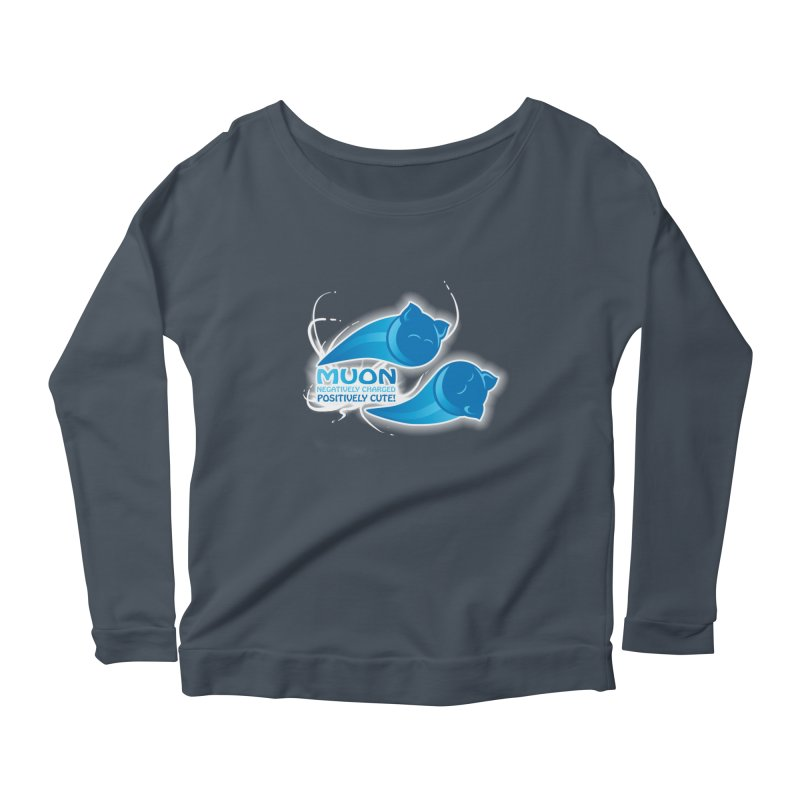 Muon! Women's Longsleeve Scoopneck  by harbingerdesigns's Artist Shop