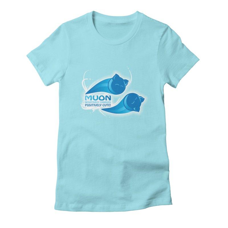 Muon! Women's Fitted T-Shirt by harbingerdesigns's Artist Shop