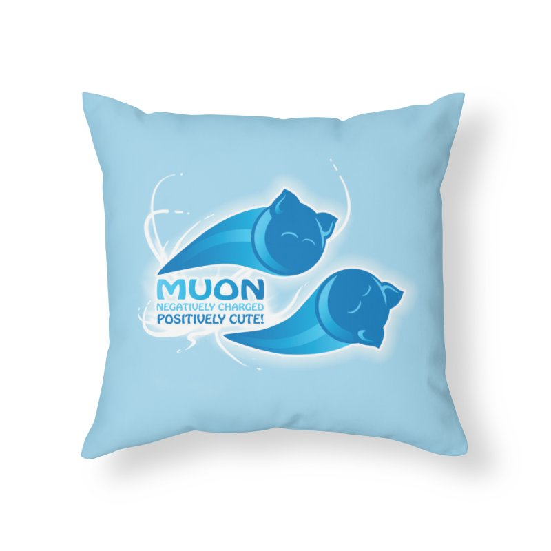 Muon! Home Throw Pillow by harbingerdesigns's Artist Shop