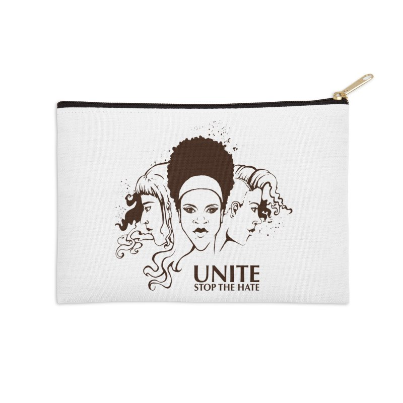 Unite Accessories Zip Pouch by harbingerdesigns's Artist Shop