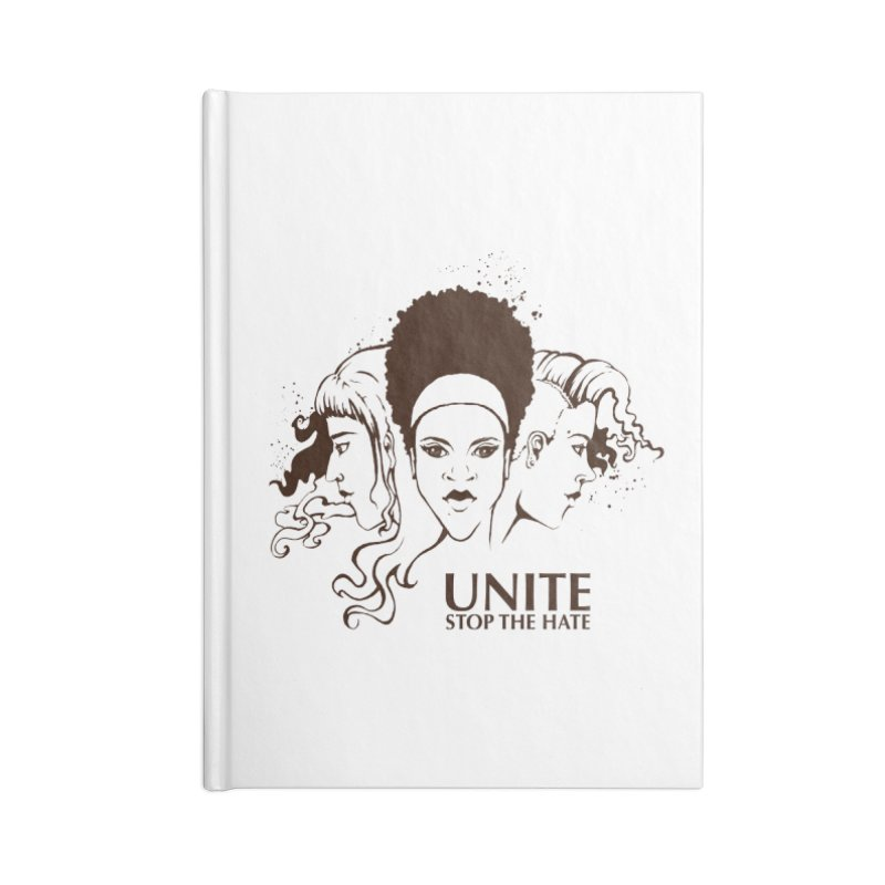 Unite Accessories Blank Journal Notebook by harbingerdesigns's Artist Shop