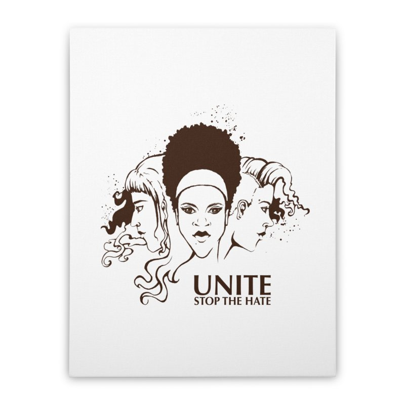 Unite Home Stretched Canvas by harbingerdesigns's Artist Shop