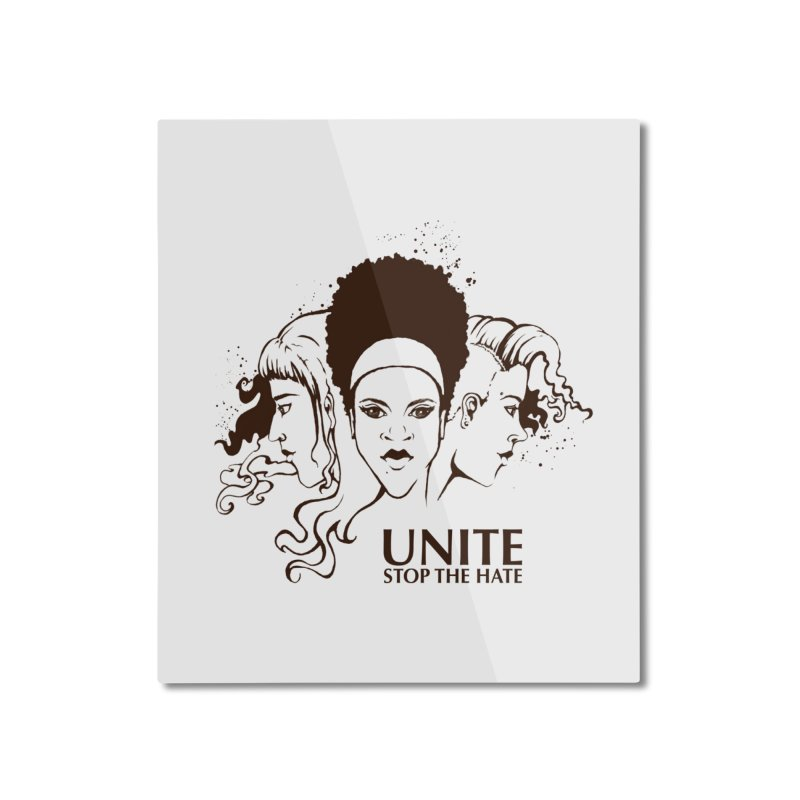 Unite Home Mounted Aluminum Print by harbingerdesigns's Artist Shop