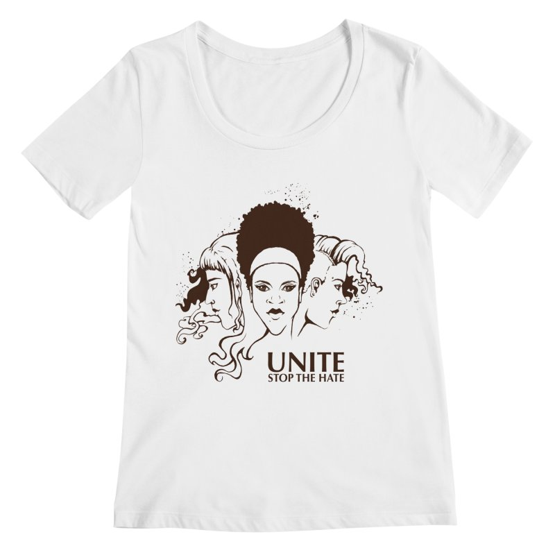 Unite Women's Scoopneck by harbingerdesigns's Artist Shop