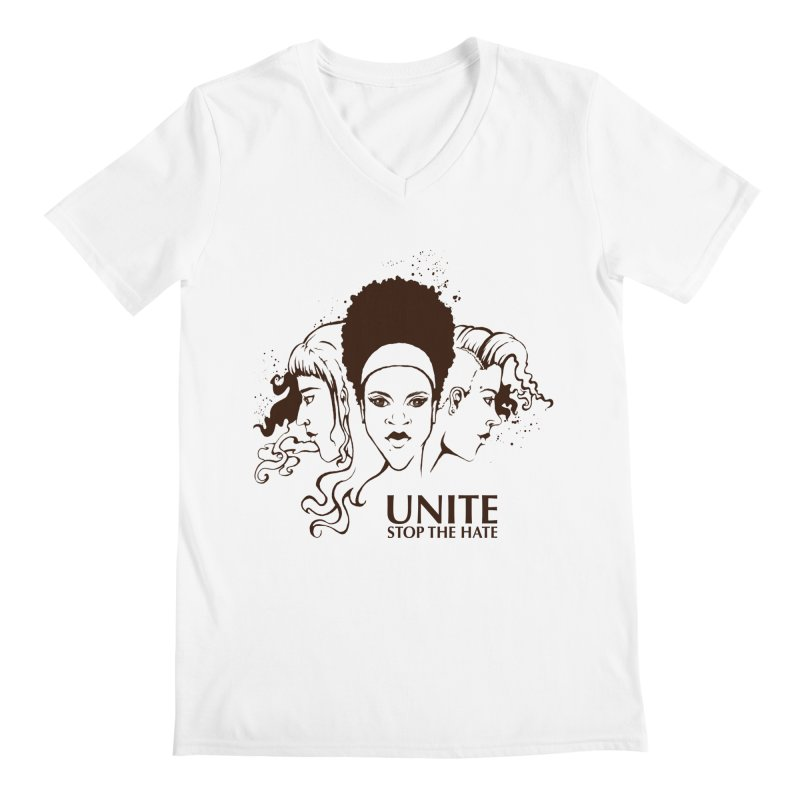 Unite Men's V-Neck by harbingerdesigns's Artist Shop