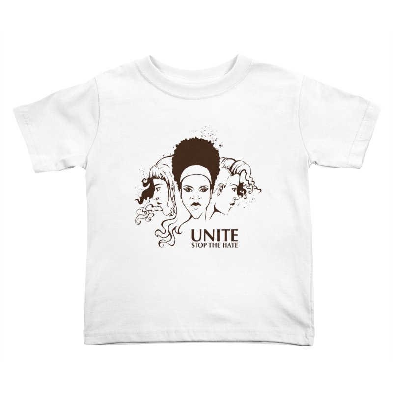 Unite Kids Toddler T-Shirt by harbingerdesigns's Artist Shop