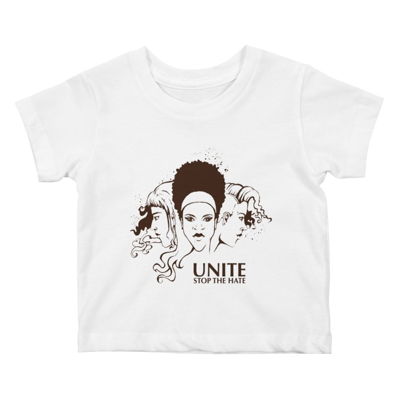 Unite Kids Baby T-Shirt by harbingerdesigns's Artist Shop