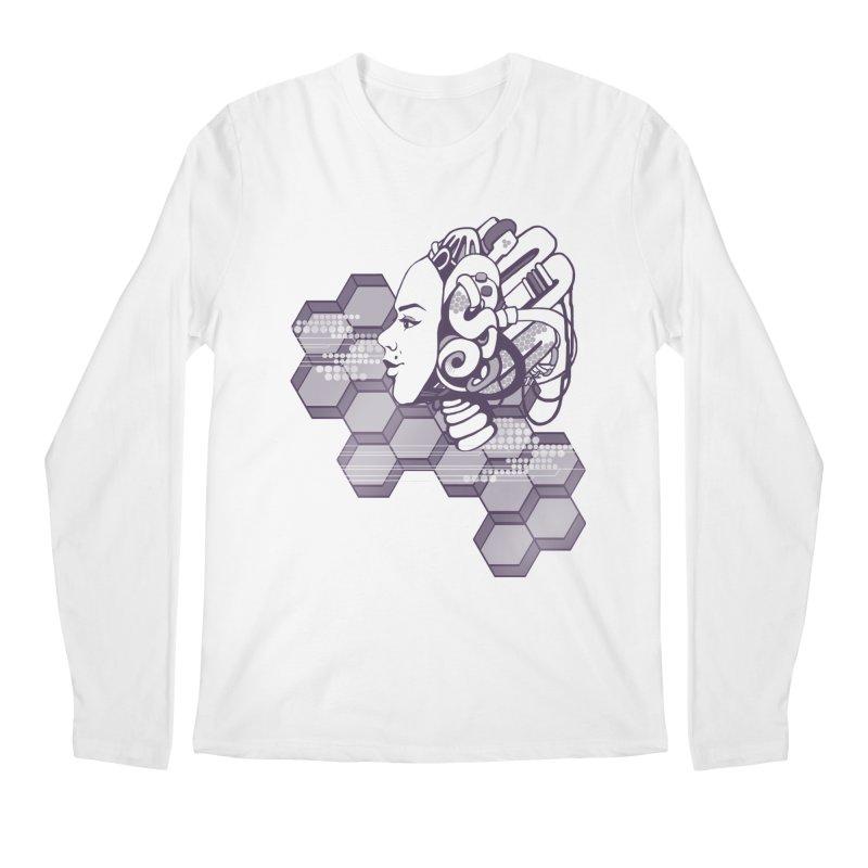 Robo Girl Men's Longsleeve T-Shirt by harbingerdesigns's Artist Shop