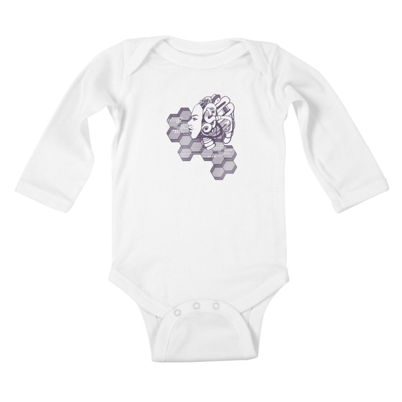 Robo Girl Kids Baby Longsleeve Bodysuit by harbingerdesigns's Artist Shop