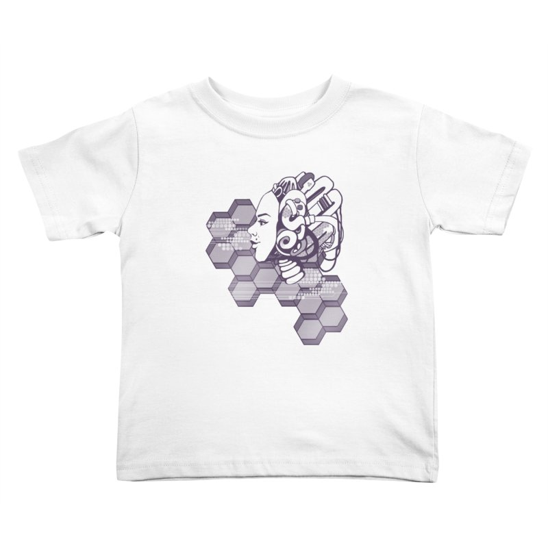 Robo Girl Kids Toddler T-Shirt by harbingerdesigns's Artist Shop