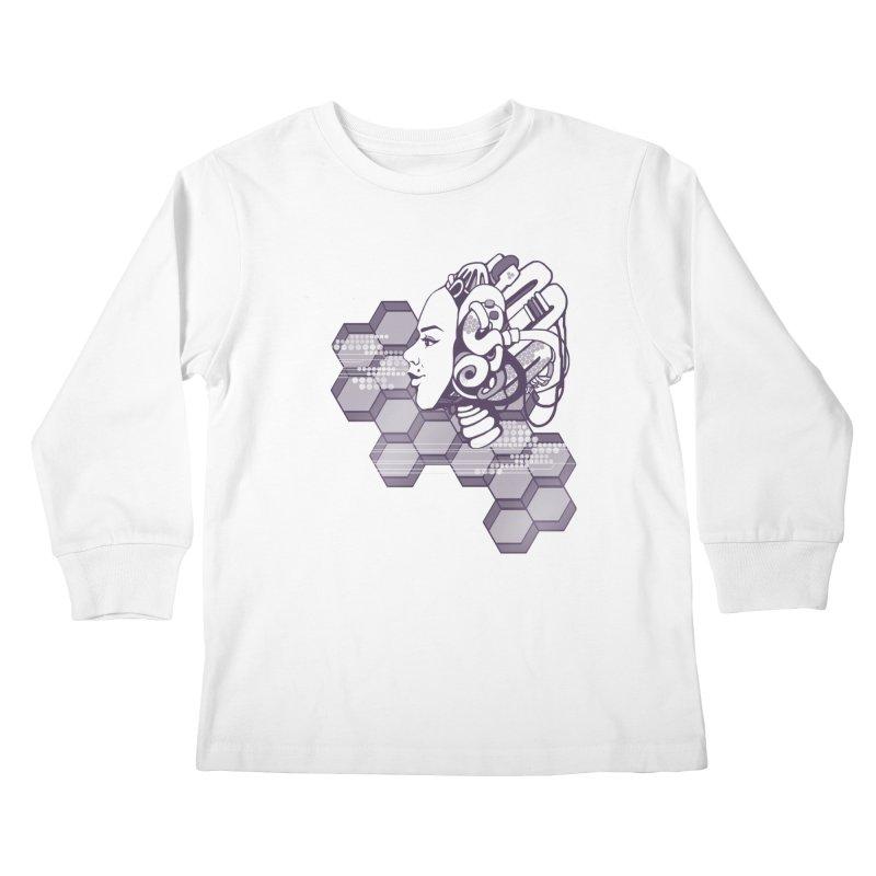 Robo Girl Kids Longsleeve T-Shirt by harbingerdesigns's Artist Shop