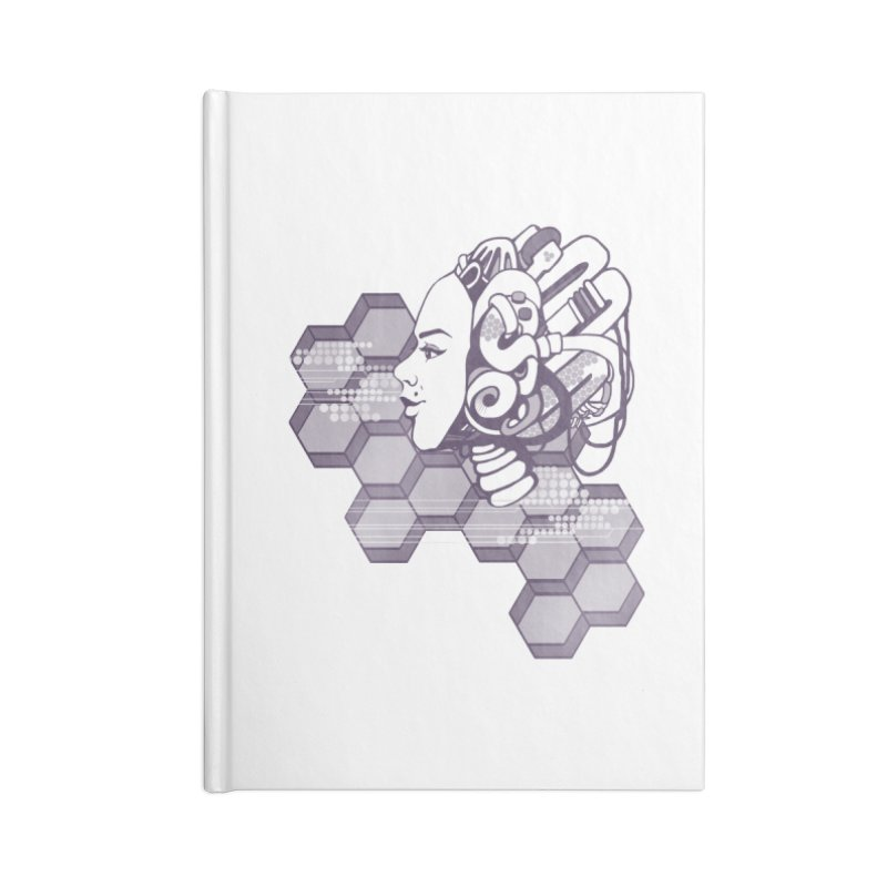 Robo Girl Accessories Notebook by harbingerdesigns's Artist Shop