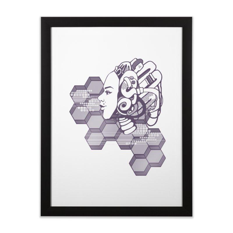 Robo Girl Home Framed Fine Art Print by harbingerdesigns's Artist Shop
