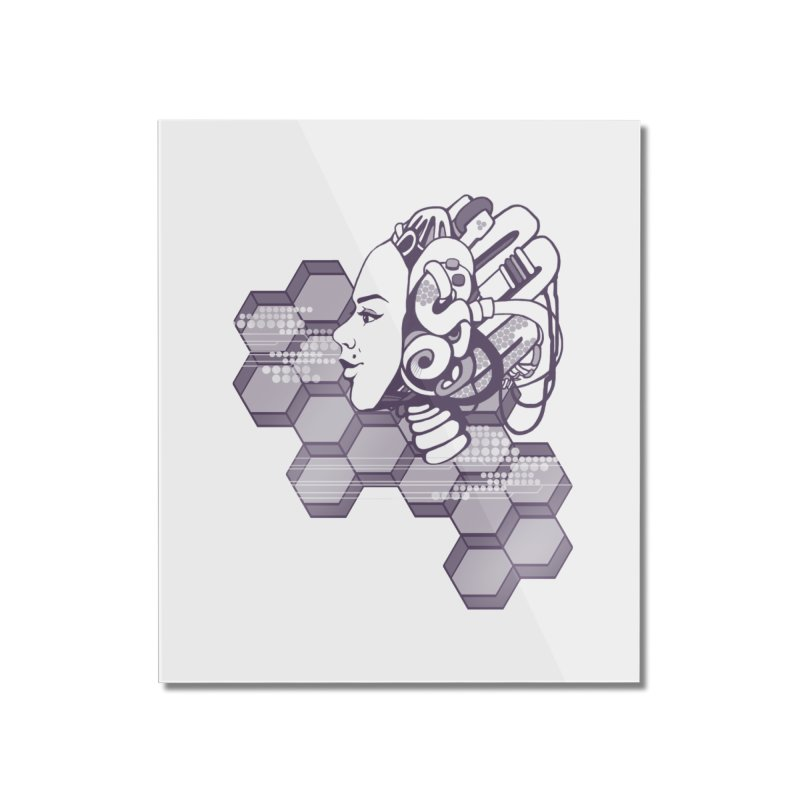 Robo Girl Home Mounted Acrylic Print by harbingerdesigns's Artist Shop