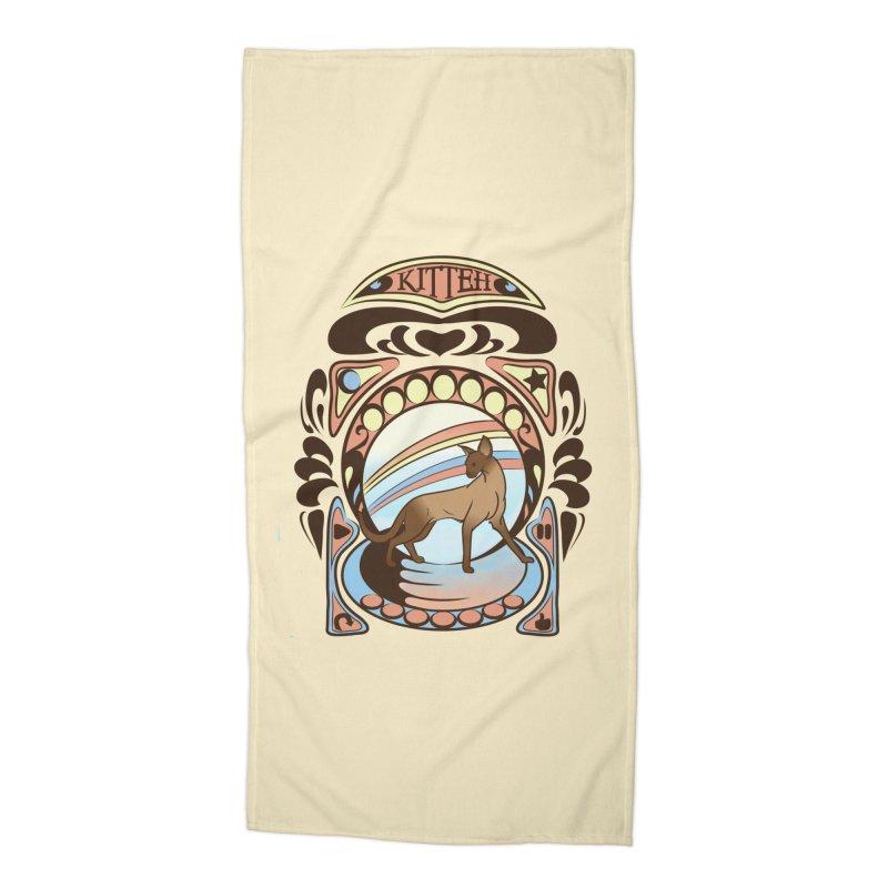 Kitteh Accessories Beach Towel by harbingerdesigns's Artist Shop