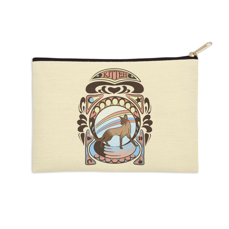 Kitteh Accessories Zip Pouch by harbingerdesigns's Artist Shop