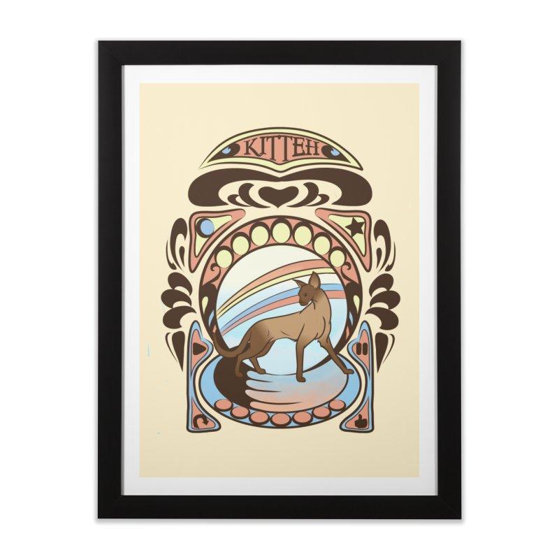 Kitteh Home Framed Fine Art Print by harbingerdesigns's Artist Shop