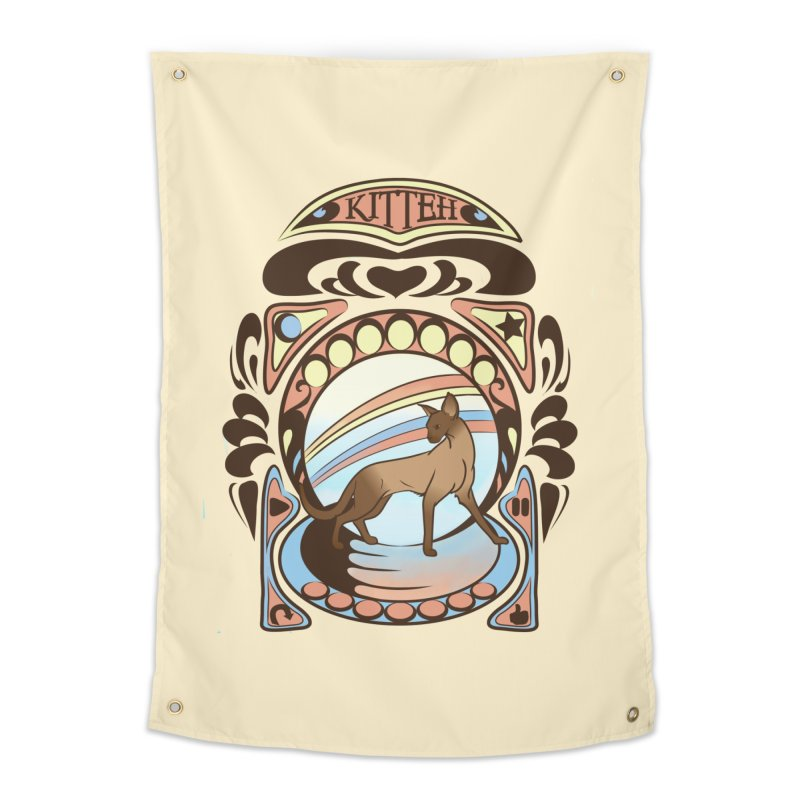 Kitteh Home Tapestry by harbingerdesigns's Artist Shop