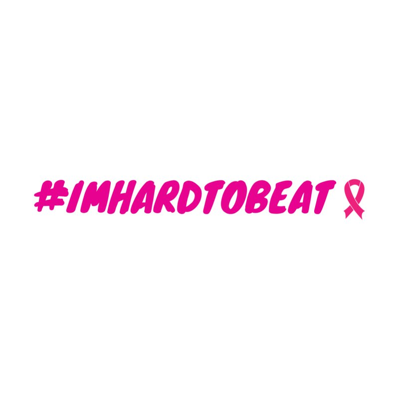 #IMHARDTOBEAT - BREAST CANCER AWARENESS Women's Zip-Up Hoody by Hard To Beat
