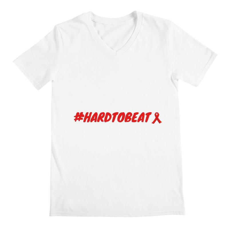 #HARDTOBEAT - HIV/AIDS AWARENESS Men's V-Neck by Hard To Beat