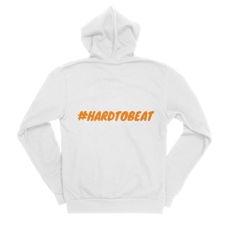 #HARDTOBEAT - ORANGE Men's Zip-Up Hoody by Hard To Beat