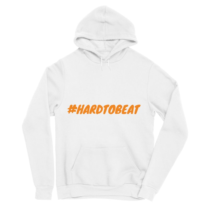 #HARDTOBEAT - ORANGE Men's Sponge Fleece Pullover Hoody by Hard To Beat