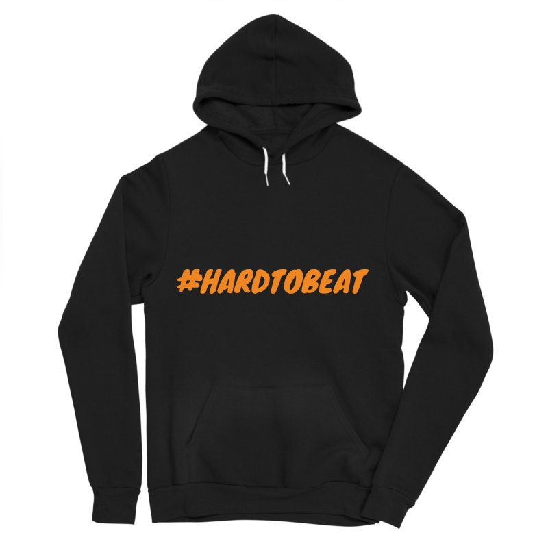 #HARDTOBEAT - ORANGE in Men's Sponge Fleece Pullover Hoody Black by Hard To Beat
