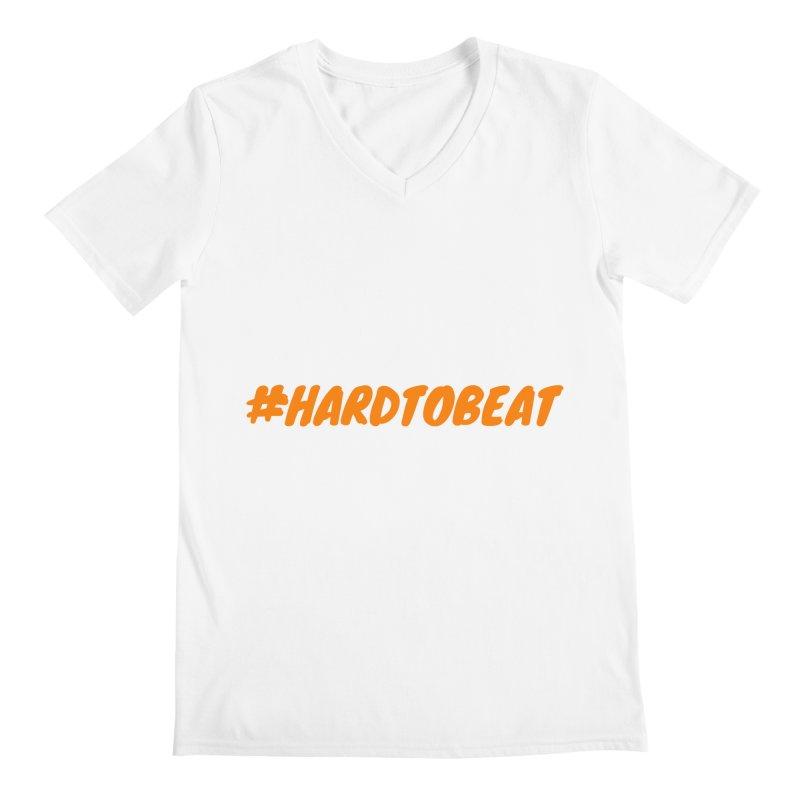 #HARDTOBEAT - ORANGE Men's V-Neck by Hard To Beat