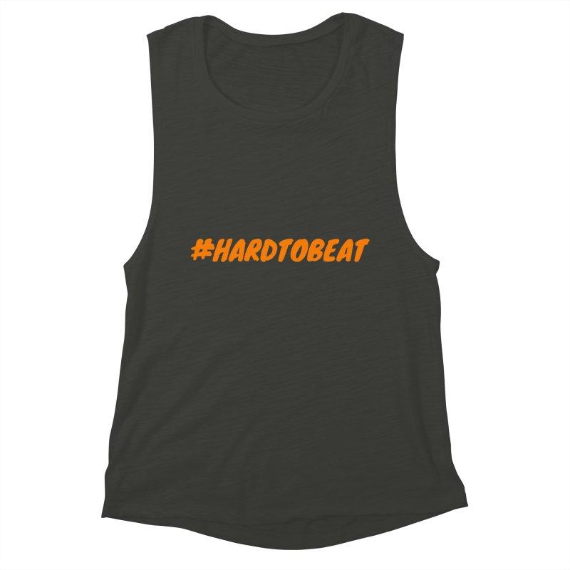 #HARDTOBEAT - ORANGE Women's Muscle Tank by Hard To Beat