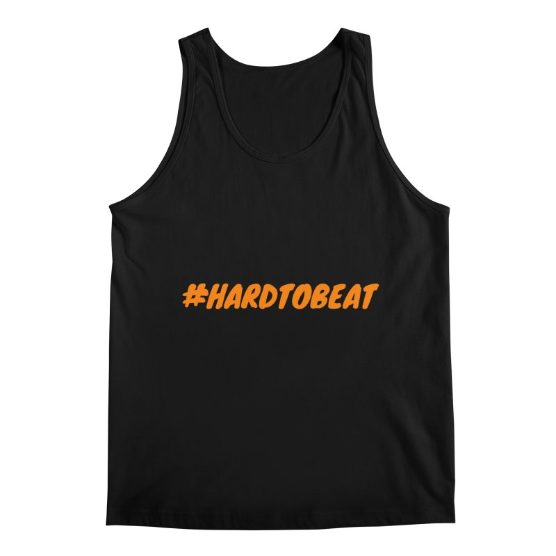 #HARDTOBEAT - ORANGE in Men's Regular Tank Black by Hard To Beat